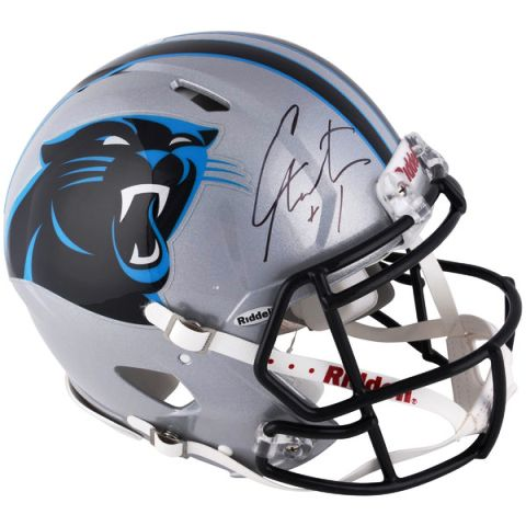 brand new 8254d 65787 Cam Newton Signed NFL Carolina Panthers Authentic Speed Helmet